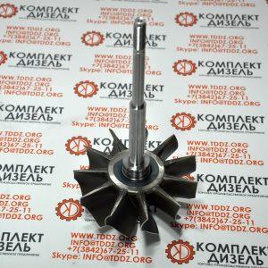 Вал турбокомпрессора с крыльчаткой Cummins 3521034Melett, 3521034, 3526150. Для двигателя Cummins KTA19, KTTA19, KTA38, KTA50. Деталь производства Melett.