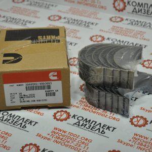 Вкладыши шатунные Cummins 3969562,3901230, 4893693, 5287911. Для двигателя Cummins ISBe, ISDe, EQB.